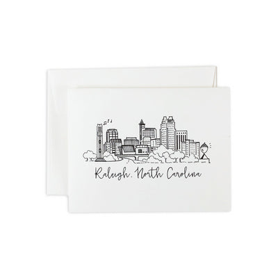 Raleigh, North Carolina Skyline Notecard Set
