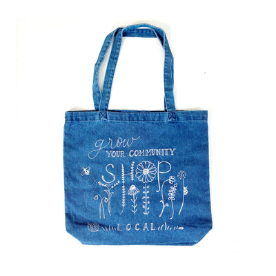 Grow Your Community Denim Tote