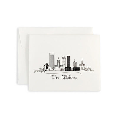 Tulsa, Oklahoma Skyline Notecard Set