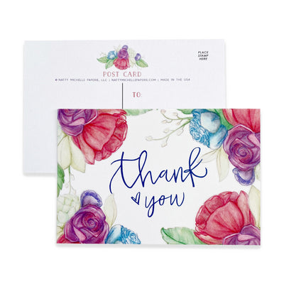 Floral Thank You Postcards
