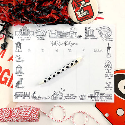 Athens, Georgia UGA Weekly Personalized Notepad