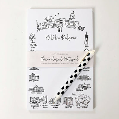 Athens, Georgia Landmarks Personalized Notepad