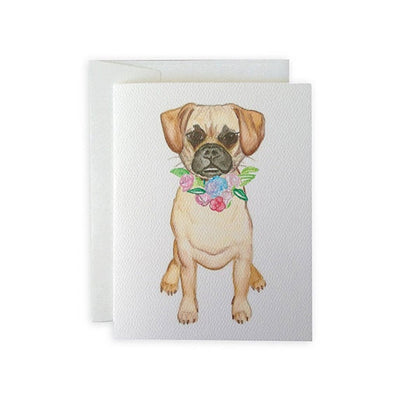Puggle Greeting Card