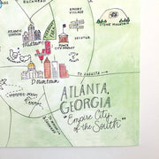 Atlanta, Georgia Map