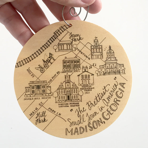 Madison Birch Ornament