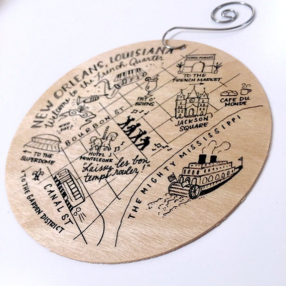 New Orleans Birch Ornament