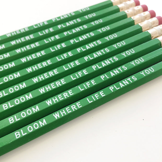 Bloom Where Life Plants You Pencils