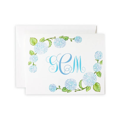 Hydrangea Monogrammed Boxed Notecard Set