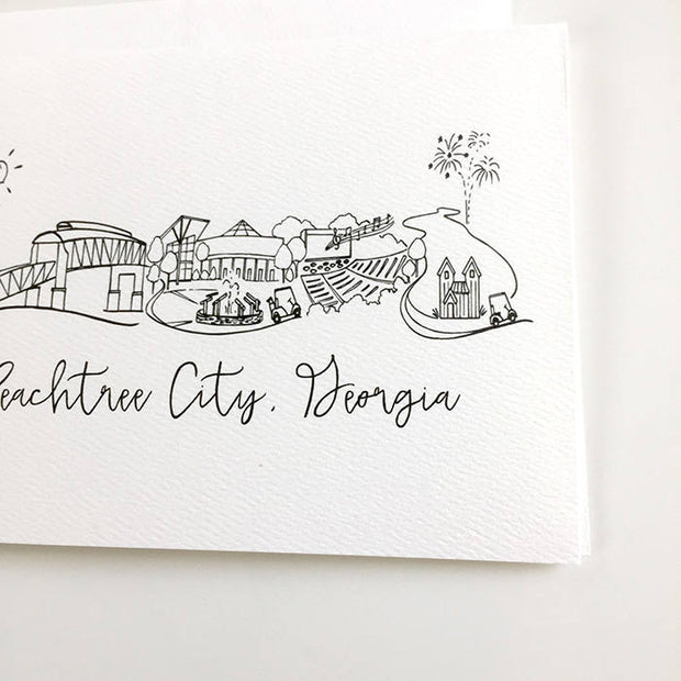 Peachtree City, Georgia Skyline