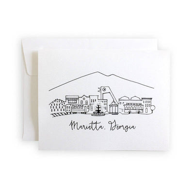 Marietta, Georgia Skyline Notecard Set