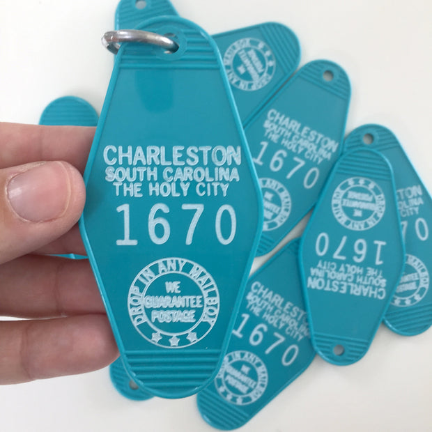 Charleston Motel Keychain