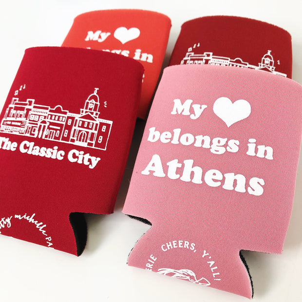 My Heart Belongs in Athens Can Holder