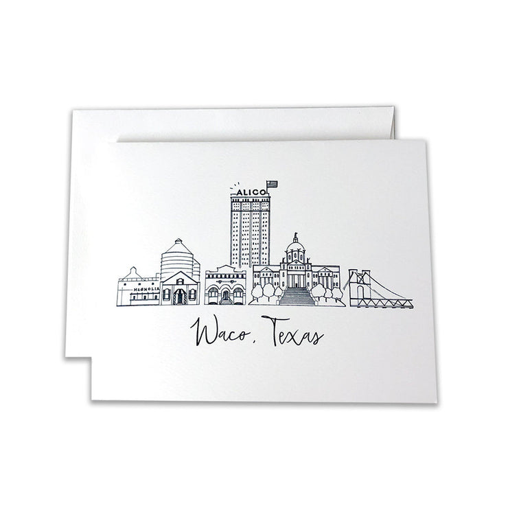 Waco, Texas Skyline Notecard Set