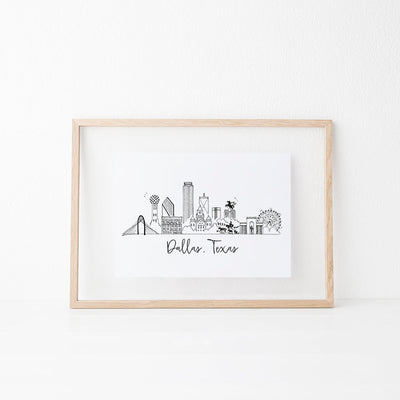 Dallas, Texas Skyline Art Print