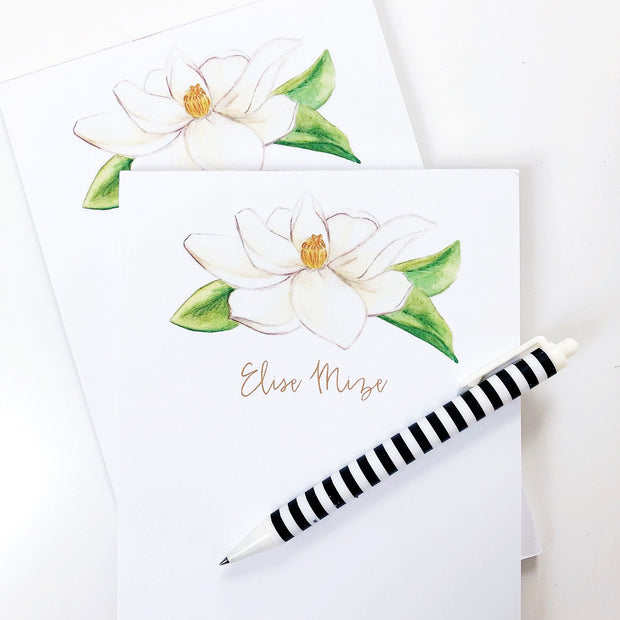 Magnolia Personalized Notepad