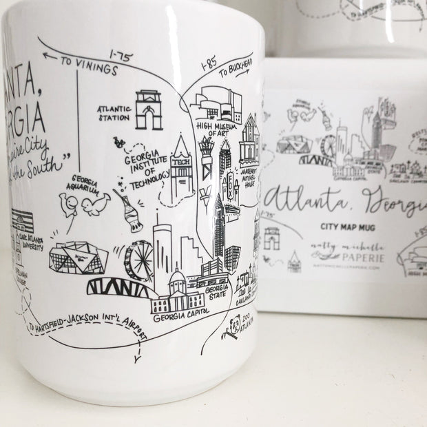 Atlanta, Georgia Map Mug