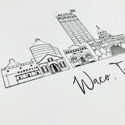 Waco, Texas Skyline Art Print