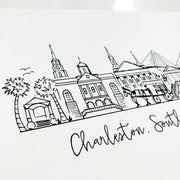 Charleston, South Carolina Skyline Art Print