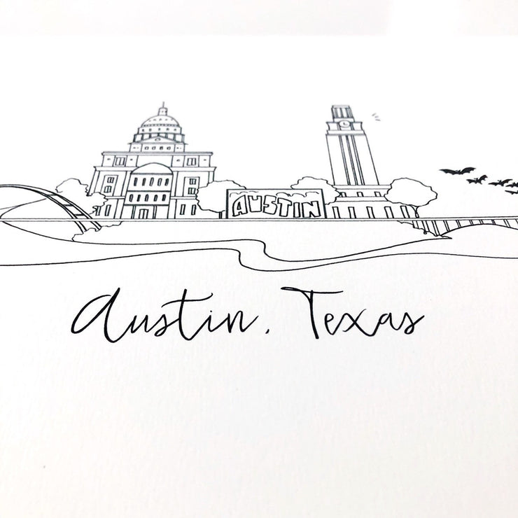 Austin, Texas Skyline Art Print