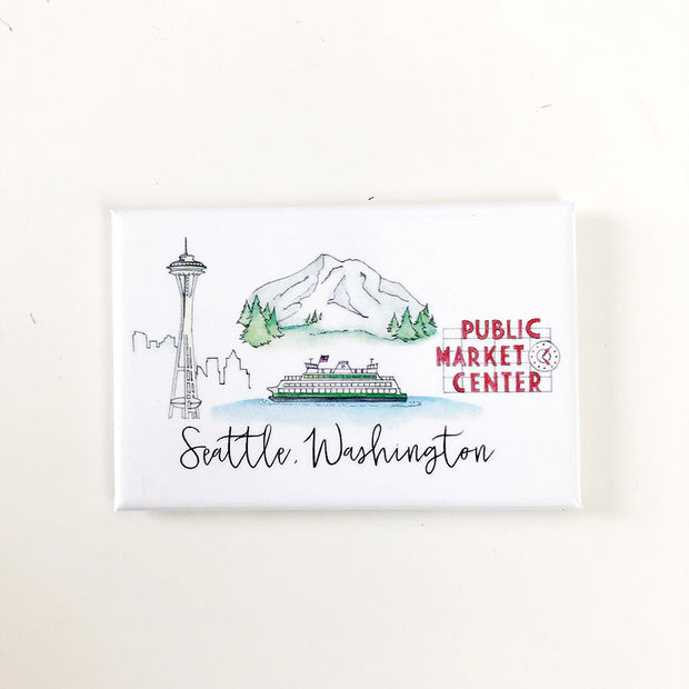 Seattle, Washington Skyline Magnets