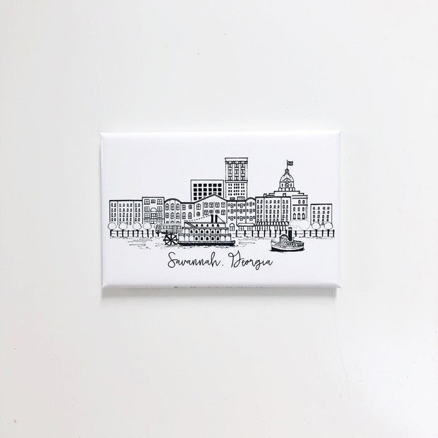 Savannah, Georgia  Skyline Magnet