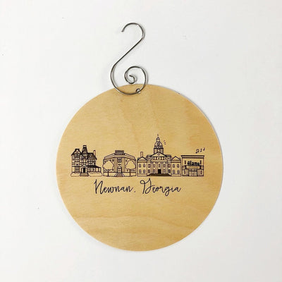 Birch Wood Newnan, Georgia Skyline Ornament