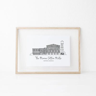 The Monroe Cotton Mills Art Print