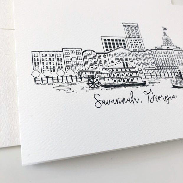 Savannah, Georgia Skyline