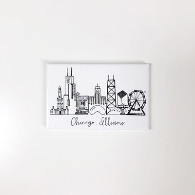 Chicago, Illinois Skyline Magnet