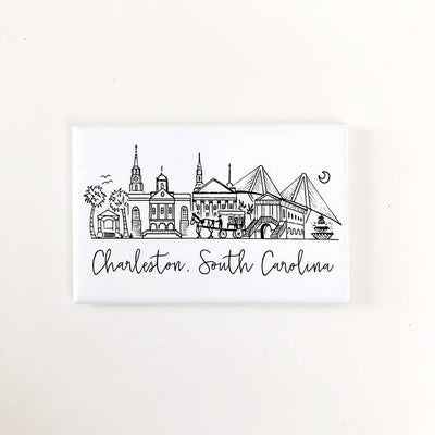 Charleston, South Carolina Skyline Magnet