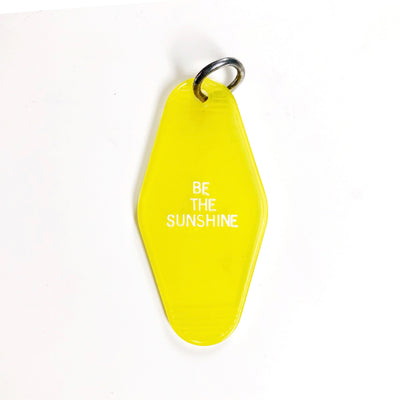 Be the Sunshine Motel Keychain