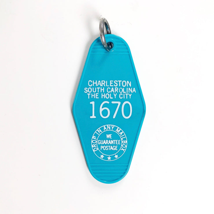 Charleston, South Carolina Motel Keychain