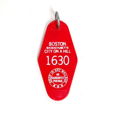 Boston Motel Keychain