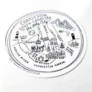 "Charleston, South Carolina 4"" Vinyl Sticker"