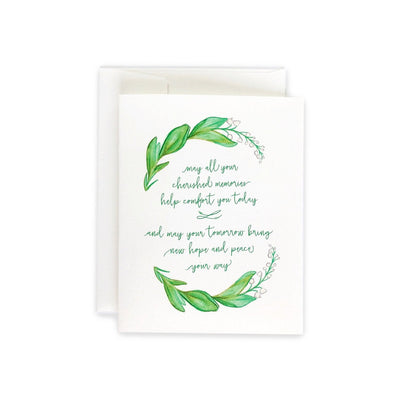 Sympathy Lily of the Valley Card or Notecard Set