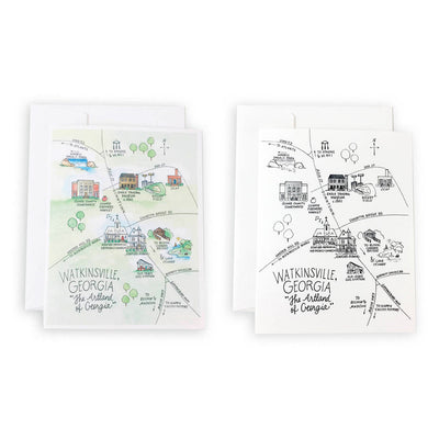 Watkinsville, Georgia Map Notecard Set