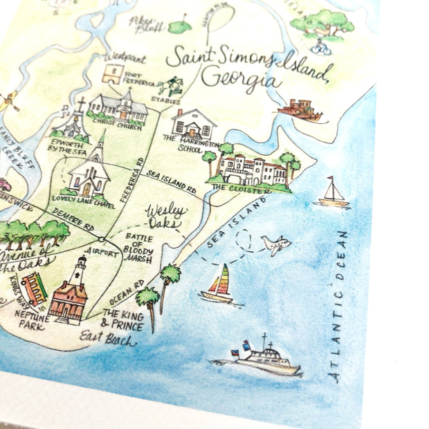 Saint Simons Island, Georgia Map