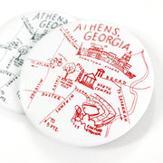 Athens, Georgia Red and Black Map Magnet