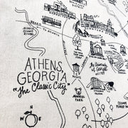 Athens, Georgia Map Tote