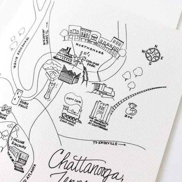 Chattanooga, Tennessee Map