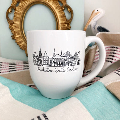 Charleston, South Carolina Skyline Mug