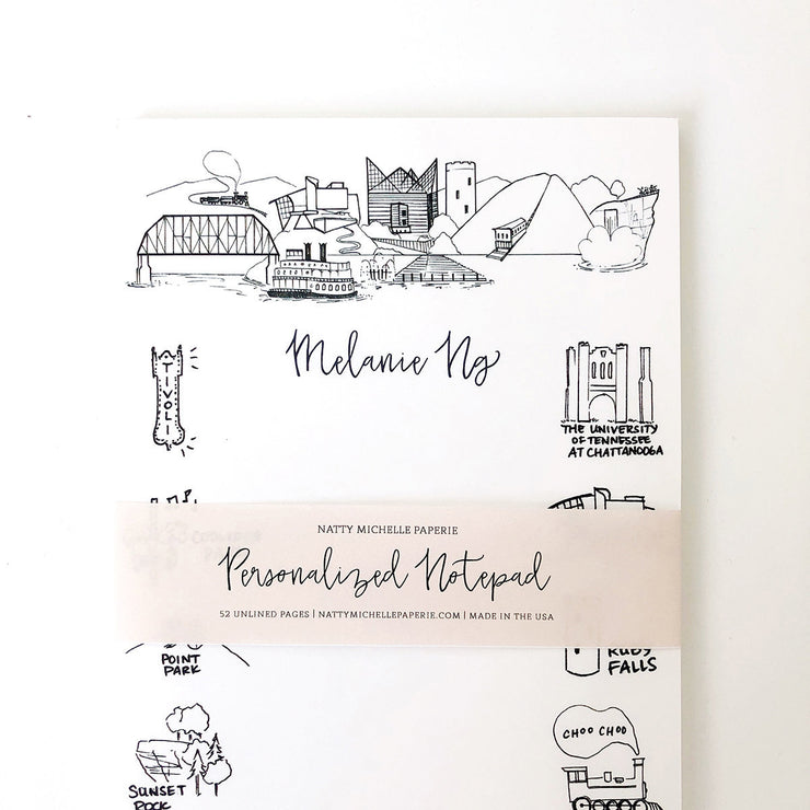 Chattanooga Landmarks Personalized Notepad