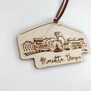 Marietta, Georgia Skyline Wood-cut Ornament
