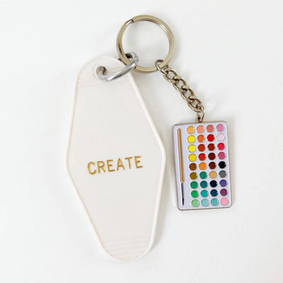 COMBO Palette and Live a Creative Life Motel Keychain