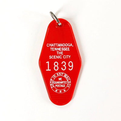 Chattanooga, Tennessee Motel Keychain