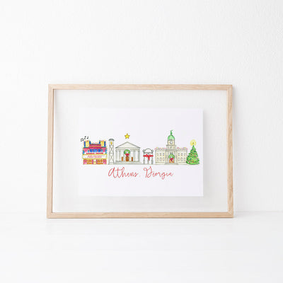 Athens, Georgia Holiday Art Print
