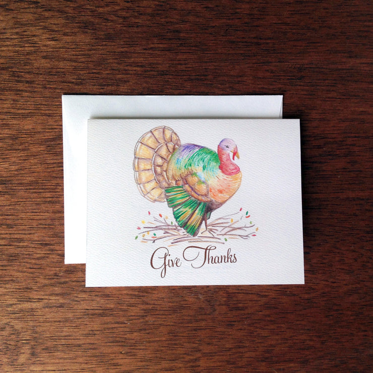 Thanksgiving Turkey Card or Notecard Set