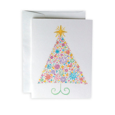 Whimsical Christmas Tree Greeting Card or Notecard Set
