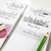 *Available in a Variety of Skylines* Personalized Notepads