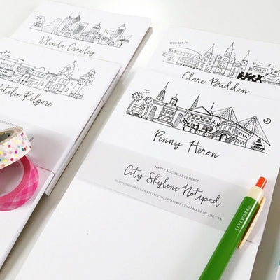 Available in a Variety of Skylines | Personalized City Skyline Notepads